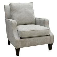 See Details - GREER ACCENT CHAIR  Chenille Boucle Seal Fabric on Hardwood Frame