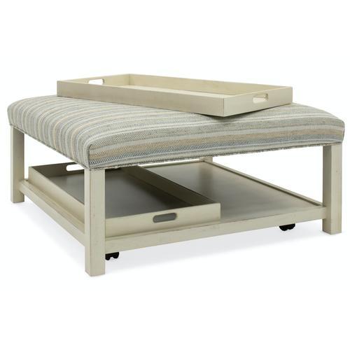 Sam Moore Furniture - Living Room Henri Square Non-Tufted Tray Ottoman