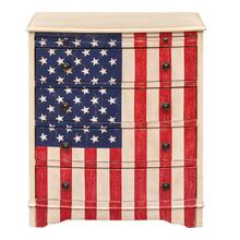See Details - American Flag Accent Drawer Chest