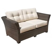 Samoa Loveseat w/off-white cushion