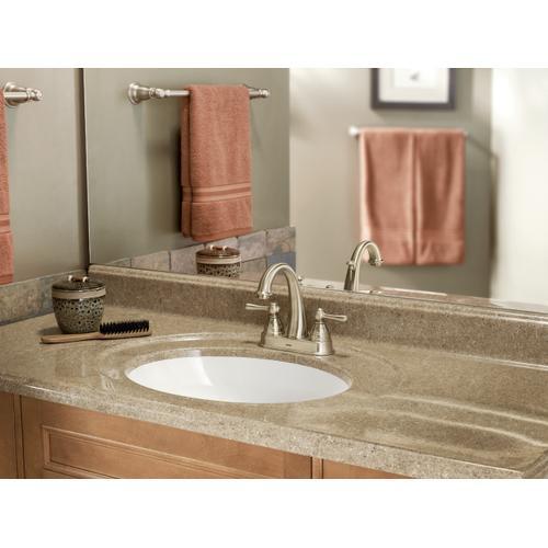 Moen - Kingsley Oil rubbed bronze two-handle high arc bathroom faucet