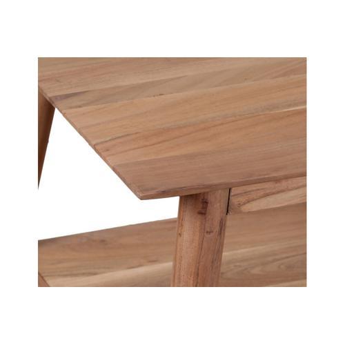 Porter International Designs - Portola Natural Coffee Table with Shelf, 2005-001NT
