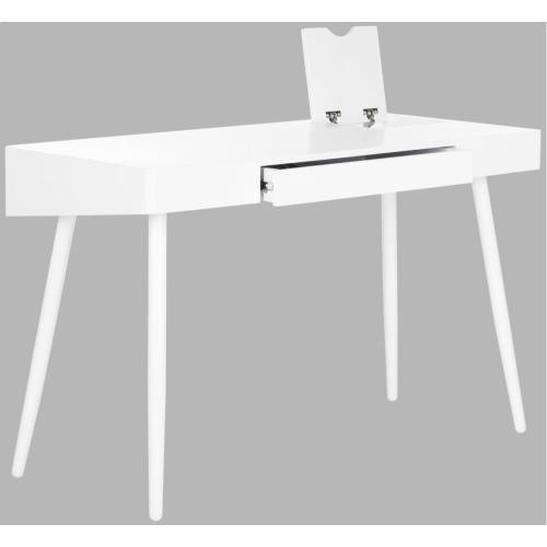 Fadri Mid Century Scandinavian One Drawer Desk - White
