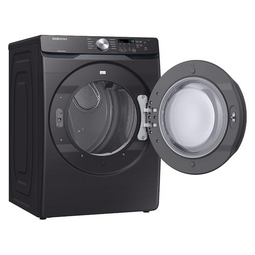 7.5 cu. ft. Electric Dryer with Sensor Dry in Black Stainless Steel