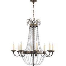 Visual Comfort CHC1408SHS-SG E F Chapman Paris Flea Market 8 Light 32 inch Sheffield Silver Chandelier Ceiling Light
