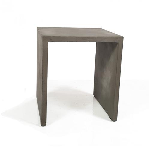 Modrest Creede - Modern Grey Concrete End Table