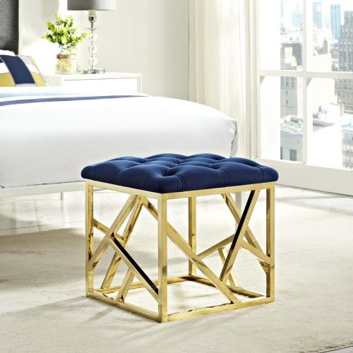 Modway - Intersperse Ottoman in Gold Navy