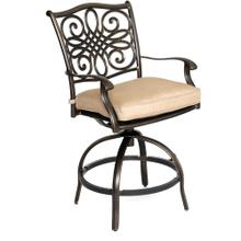 Hanover Outdoor Set of Two High-Seating Swivel Chairs with Alumnicast Back Accents, AAL08011F01