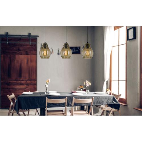 60W Teramo RippLED Glass Pendant (Edison Bulb Not included)