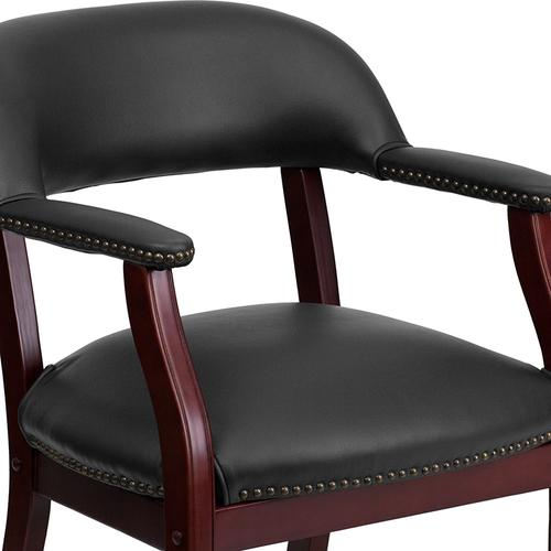 Gallery - Black Vinyl Luxurious Conference Chair with Accent Nail Trim