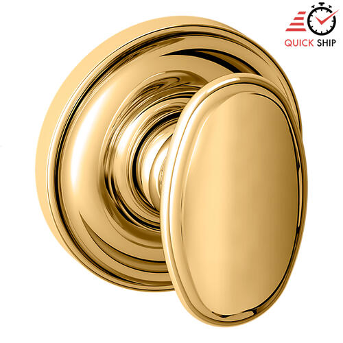 Baldwin - Lifetime Polished Brass 5057 Estate Knob with 5048 Rose