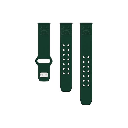Green Bay Packers Debossed Silicone Watch Band (20mm) Green