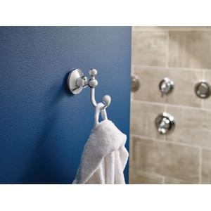 Wynford polished nickel double robe hook
