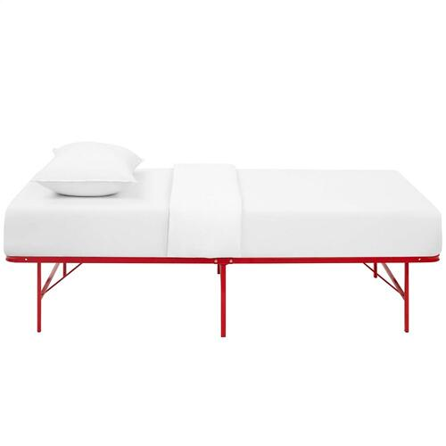 Horizon Twin Stainless Steel Bed Frame in Red