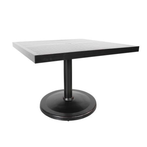 "Monaco 42"" Square Pedestal Table Top"