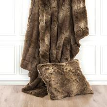 Faux Wolf Fur Oversized Throw Blanket