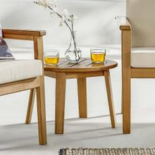 Vero Ash Wood Outdoor Patio Side End Table in Natural
