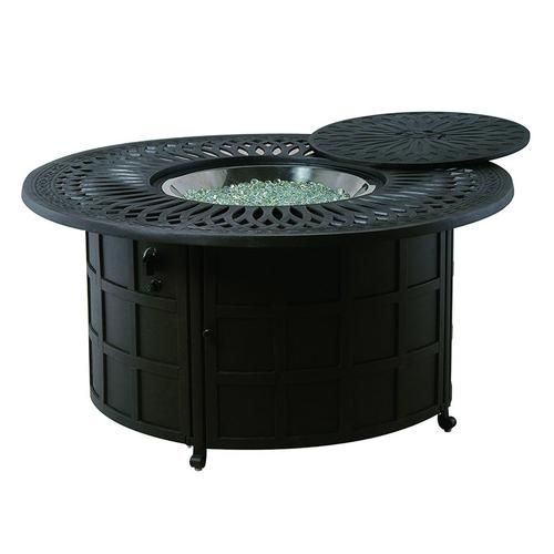 """Hanamint - Mayfair 48"""" Round Enclosed Gas Fire Pit Table"""
