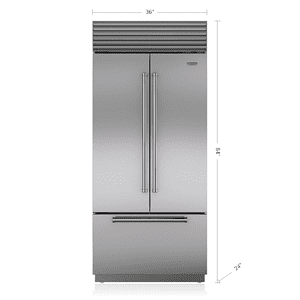 "Subzero36"" Classic French Door Refrigerator/Freezer with Internal Dispenser"