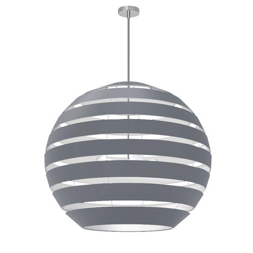 Product Image - 4lt Chandelier Pc, Gry Shade