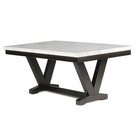 Finley 72 inch White Marble Top Dining Table