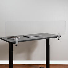 "Clear Acrylic Desk Partition, 12""H x 55""L (Hardware Included)"