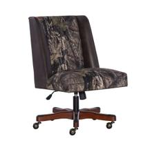 Upholstered Office Chair, Mossy Oak, Brown