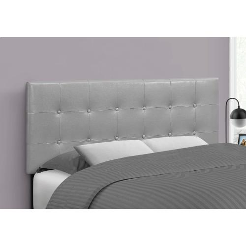 Gallery - BED - FULL SIZE / GREY LEATHER-LOOK HEADBOARD ONLY