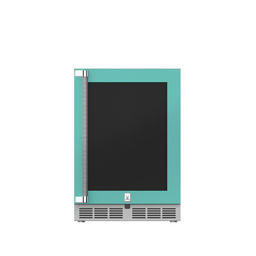 "Hestan - 24"" Hestan Undercounter Refrigerator (Glass Door) - GRGR Series - Bora-bora"