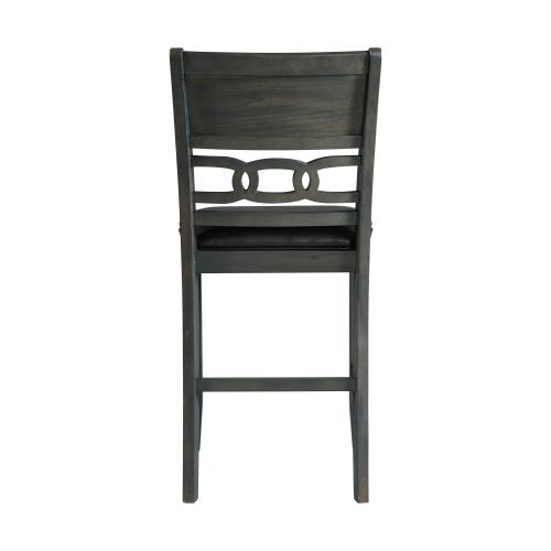 Amherst Gray PU Counter Side Chair Set