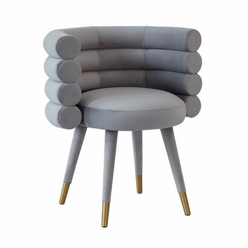 Betty Grey Velvet Dining Chair