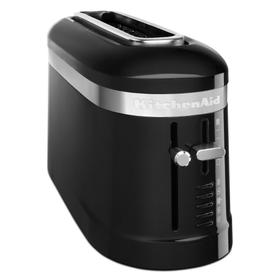 2 Slice Long Slot Toaster with High-Lift Lever - Onyx Black