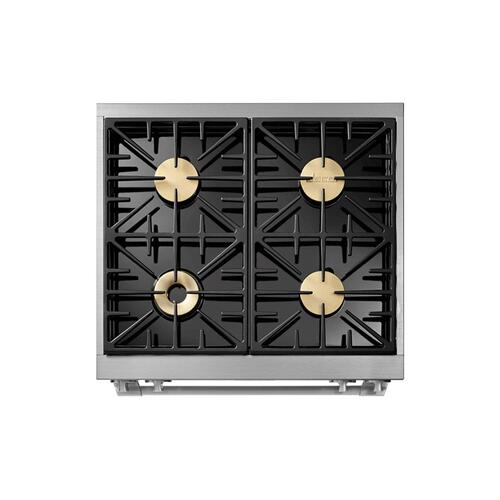 "30"" Gas Pro Range, Silver Stainless Steel, Liquid Propane/High Altitude"