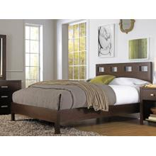 Riva Queen Platform Bed with Chocolate Brown Finish