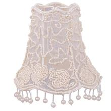 """See Details - 5"""" Pearl Beaded Shade w/ Dangling Pearls"""