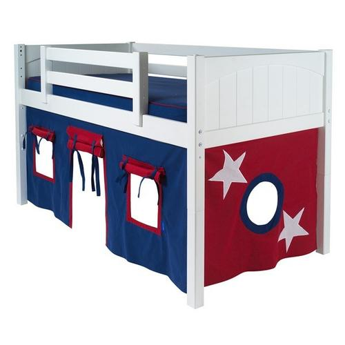 See Details - Under Bed Curtain : Blue/Red