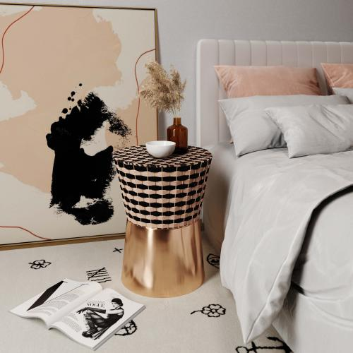 Tov Furniture - Madilyn Woven Side Table