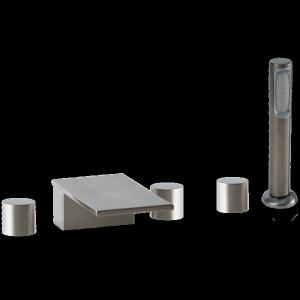 Otella 5-Hole Deck Mount Tub Filler R+S Brushed Nickel Product Image