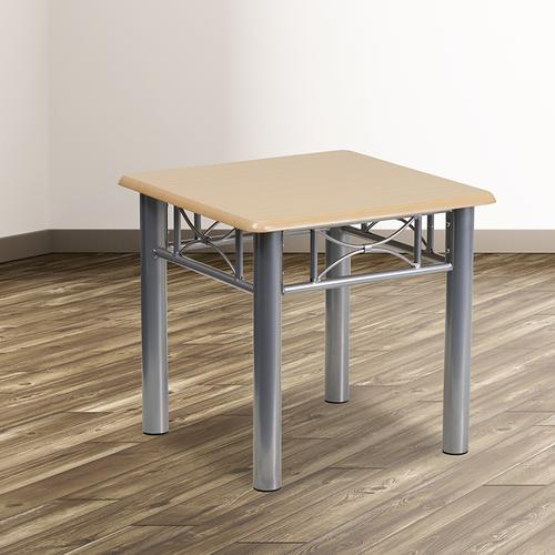 Flash Furniture - Natural Laminate End Table with Silver Steel Frame