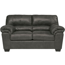 See Details - Signature Design by Ashley Bladen Loveseat in Slate Faux Leather