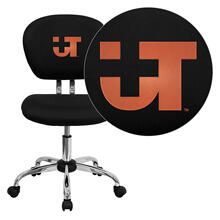 Texas SW Medical Center Dallas Embroidered Black Mesh Task Chair with Chrome Base