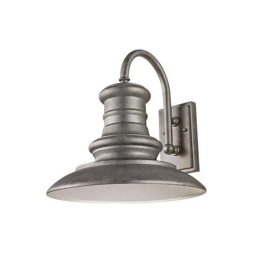 Redding Station Large LED Lantern Tarnished Silver Bulbs Inc