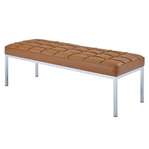 Loft Leather Bench in Tan