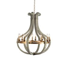 12-Light Chandelier with Burnished Brass Accents