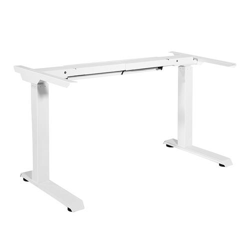 3-stage / 2-motor / 2-leg Electric Height-adjustable Base With Memory Handset, White