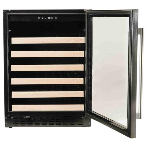 """Azure Home Products - Wine Center 1.0 - 24"""" Glass Door w/ Stainless"""