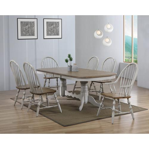 Double Pedestal Extendable Dining Table - Country Grove