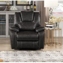 8086 GRAY Manual Recliner Air Leather Recliner