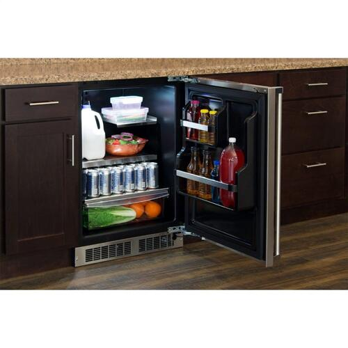 """Marvel Professional 24"""" All Refrigerator with Drawer Storage - Integrated Left Hinge (handle not included)*"""