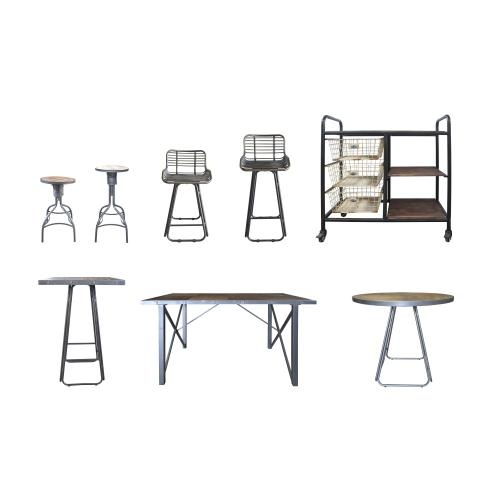 "Emerald Home D103-30 Laurell Hill 30"" Bar Stool, Patina Gray"
